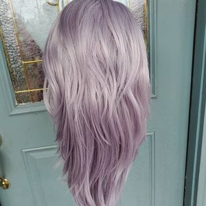 New [Custom Dyed] Icy Purple Lace Front wig